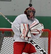 Susquehannock goalie Brady Fey blocks a West Shore shot, Monday, November 4, 2019.John A. Pavoncello photo