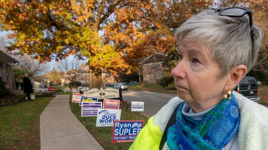 "Suzanne Shaffer voted as the poll opened in Springettsbury Township on Tuesday. Voters were there for local elections, but the 2020 races already are on the minds of many. ""We're at a moment where we really need to do a lot of soul searching,"" said Suzanne Shaffer, a 59-year-old teacher, after casting her ballot at the Springetts Apartments."