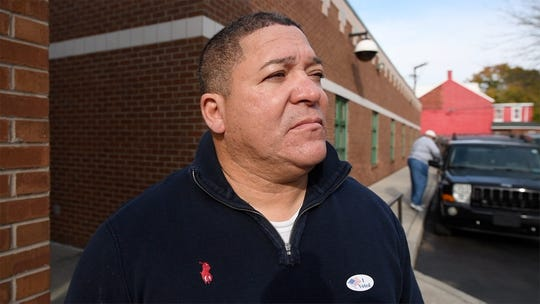 Lou Rivera voted at Crispus Attucks on Tuesday.