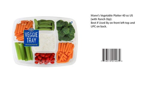 Mann Packing Co., based on Salinas, announced the recall Sunday of vegetable products sold to some retailers in the United States and Canada due to possible Listeria contamination.