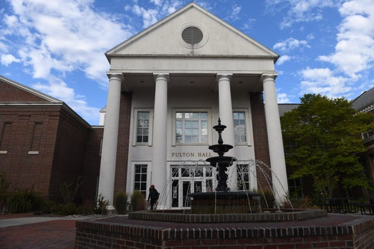 Fulton Hall on Salisbury University's campus was the sight of vandalism involving racist, sexually explicit and threatening messages in October and November 2019.