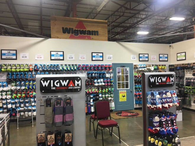 The Wigwam outlet store is located at 3402 Crocker Ave.