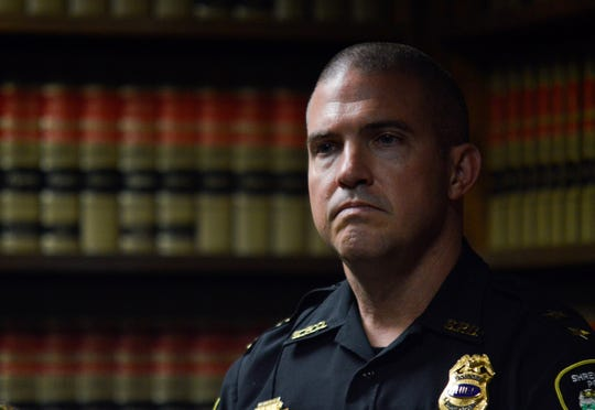 Shreveport police chief Ben Raymond on Tuesday, Nov. 5, 2019, during a news conference in the U.S. Attorney's Office at the Tom Stagg U.S. Courthouse located in downtown Shreveport.