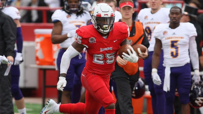 Jaguars rookie running back James Robinson had two 1,000-yard seasons and scored 44 career touchdowns for Illinois State, a Missouri Valley Conference team in Normal, Ill.