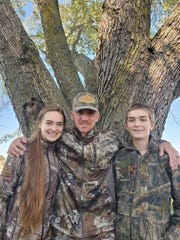 Uncle Evan Sorrell took niece Aubrey, 15, and nephew Levi, 13, deer hunting during the annual fall youth hunt.