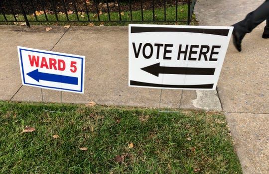 Voters in Staunton Ward 5 filled their ballots at the Memorial Baptist Church Tuesday morning. Polls are open from 6 a.m.-7 p.m.