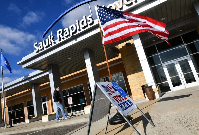 Voters enter the Sauk Rapids Government center to cast ballots in the school district referendum vote Tuesday, Nov. 5, in Sauk Rapids.