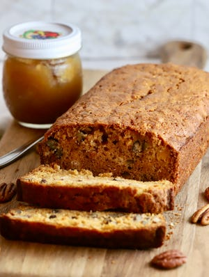 Substitute sweet potatoes for bananas for a seasonal quick bread.