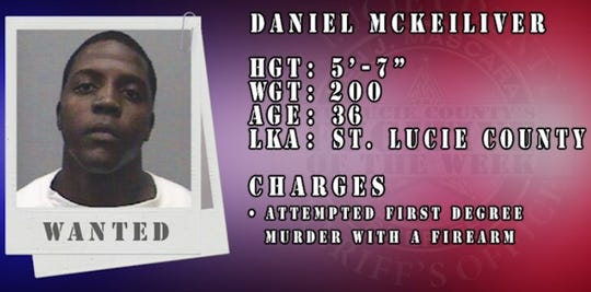 "St. Lucie County Sheriff's Office featured Daniel McKeiliver in its latest ""Fugitive of the Week"" Facebook video."