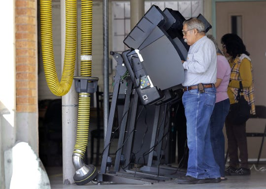 El Pasoans vote Tuesday, Nov. 5, 2019, at Fire Station No. 3 on Rio Grande Avenue in Central El Paso.