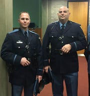 Vineland police Sgt. Ron DeMarchi, right, is suing the city and the police department.