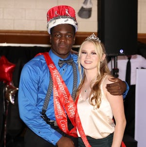 Jake Nwosu of Franklinville and Erin Collins of Elk Township are Delsea Regional High School's Homecoming King and Queen.