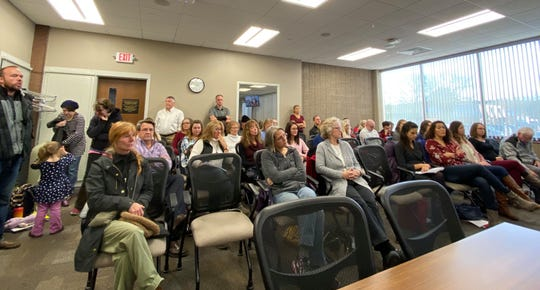 Dozens of concerned citizens turned up to express their views on whether or not the Marathon County Board of Health should support the elimination of the personal conviction waiver for immunizations on Tuesday, November 5.