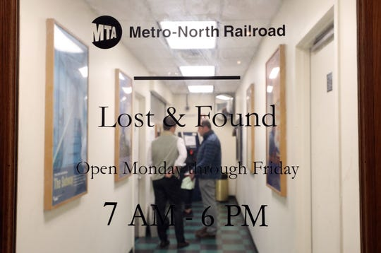 The door to Metro-North Railroad's Lost & Found room in Grand Central Terminal in Manhattan Nov. 4, 2019.