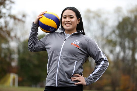 Rockland Scholar Athlete Isabella Villarente at Ramapo High School Nov. 5, 2019. Villarente, a senior, is the captain of the volleyball varsity team.