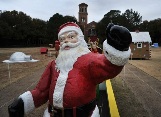 Old Saint Nick took to his annual pre-Thanksgiving pirch a-top-of the of the Little Train That Could as the MSU-Burns Fantasy of Lights display moved onto campus earlier last week.