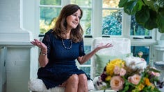 Second Lady Karen Pence talks to USA TODAY from the sun room of the Vice President's residence.