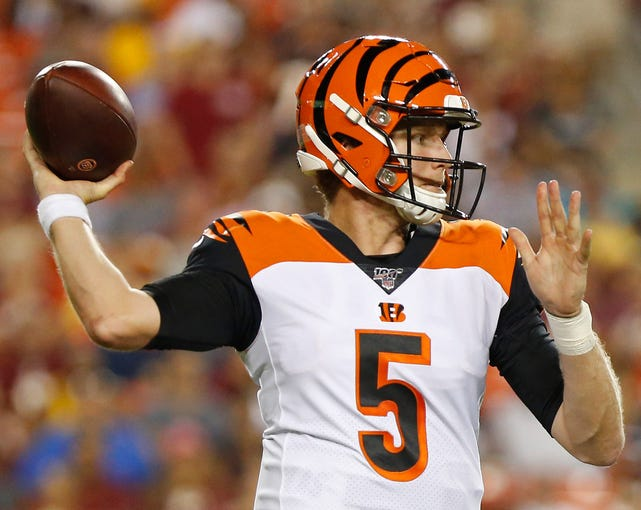 32. Bengals (Previously: 31): Welcome to the deep end of the pool, Ryan Finley, which includes a Ravens defense that will surely put game on your arm in upcoming NFL debut.