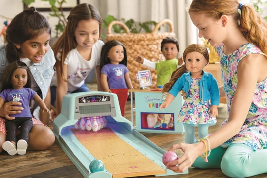 The American Girl Bowling Alley is recommended for ages 8 and up.
