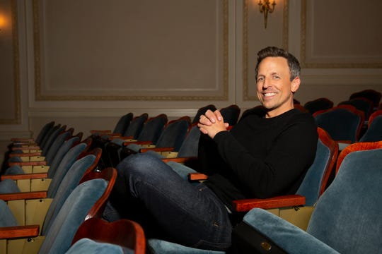 """Seth Meyers relaxes before taping his first Netflix comedy special, """"Lobby Baby."""""""