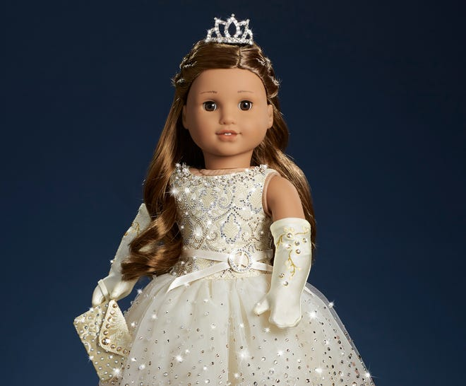 It took more than 40 hours to hand-embellish each American Girl doll with over 5,000 Swarovski crystals and beads.