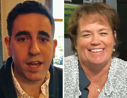 The candidates for Freehold Township committee are Democrat Scott Berlin, left, and Republican Maureen Fasano, right.