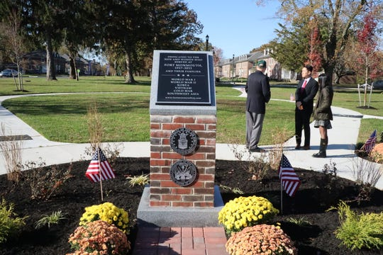 A new veteran's memorial dedicated to those who served at Fort Monmouth is at the center of East Gate Park in Oceanport. The park was dedicated on Nov. 4, 2019.