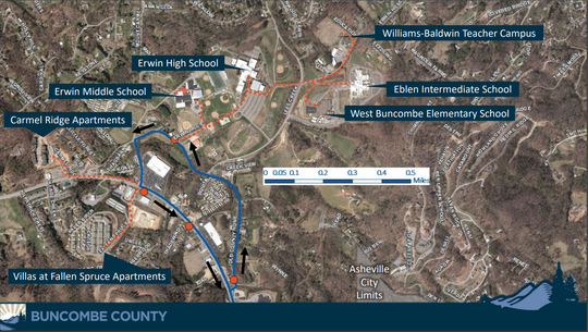 An extension of the ART W4 line will form a loop (shown in blue) with stops near several schools and apartments outside city limits.