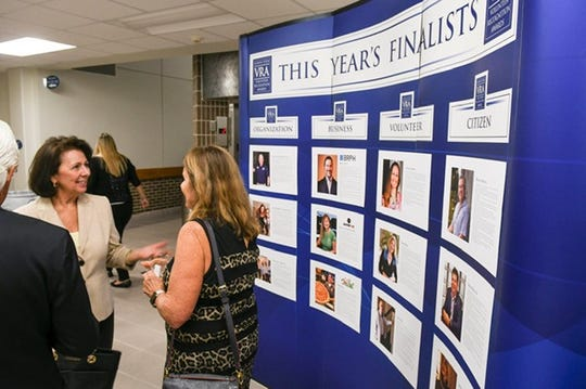 Stories and photos of all finalists for FLORIDA TODAY's 2019 Volunteer Recognition Awards were featured in a display preceding the awards ceremony at Eastern Florida State College.
