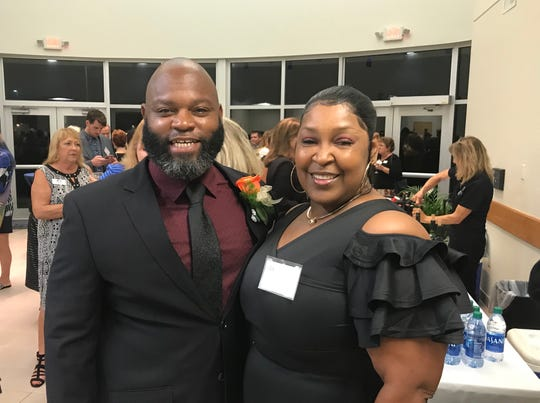 Pastor Jarvis Wash and his wife, Elois, are pictured during the reception preceding FLORIDA TODAY's 28th annual Volunteer Recognition Awards.