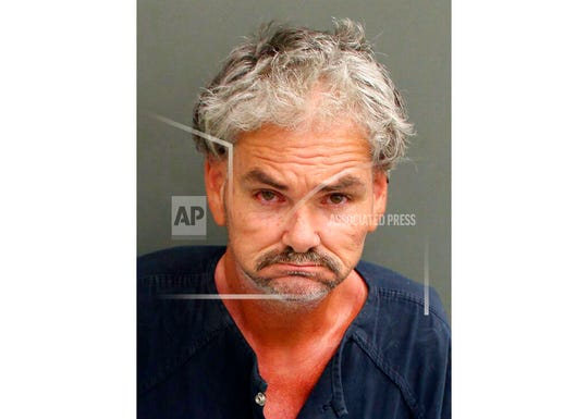 This Saturday, Nov. 2, 2019 booking photo made available by the Orange County Sheriff's Office shows Brian Sherman in Orange County, Fla. Authorities say Sherman groped a Walt Disney World worker dressed as a princess during a photo opportunity at the Magic Kingdom park on Saturday.
