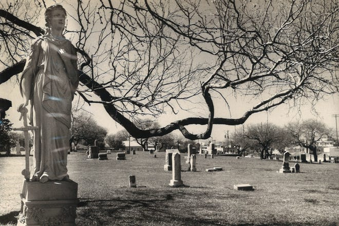 Old Bayview Cemetery in Corpus Christi, seen here in March 1969, is the oldest federal military cemetery in Texas.