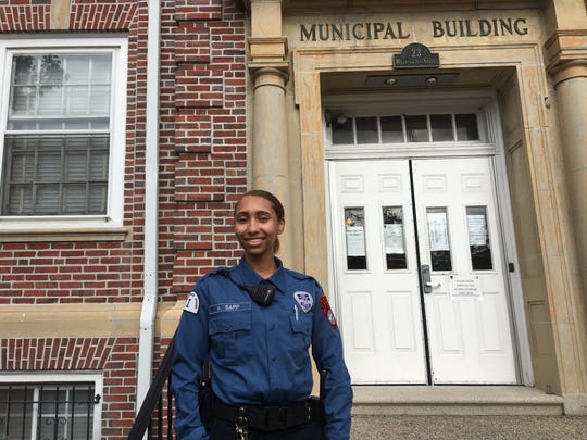 Burlington Township native Ashley Sapp, 20, was recently hired by the Mount Holly Police department as a special law enforcement officer Class I.