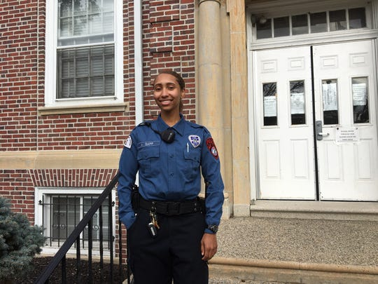 Burlington Township native Ashley Sapp was recently hired by the Mount Holly Police department as a special law enforcement officer Class I. Sapp, 20, is a student a Rowan College at Burlington County.