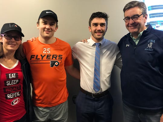 Tuesday night was the 10th time James and Trevor van Riemsdyk played each other in the NHL. Parents Frans and Allison have been to all of them.