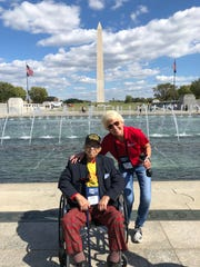 Cammy Dierking traveled with and interviewed Dickie Thompson, a World War II veteran, who took a trip in September to Washington D.C. as part of a nonprofit program to allow veterans to visit the memorials of wars in which they served.