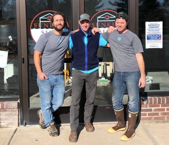 The Sunken Silo Brew Works team from left: Fred Mattrey, Jeff Donlon and Matt Harrison.