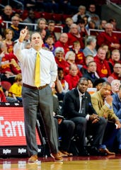 Iowa State Head Coach Steve Prohm during a game against Mississippi Valley State University in Ames Tuesday, Nov. 5, 2019.