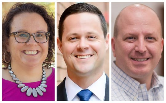 Bridget Carberry Montgomery, Matt Blake and Adam B. Obrecht were elected to the Urbandale City Council on Tuesday.