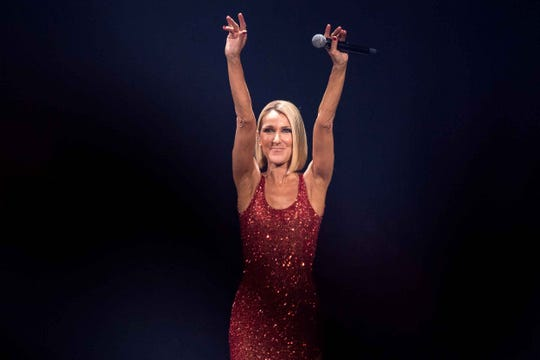 Celine Dion performs at Detroit's Little Caesars Arena as part of her Courage World Tour on Tuesday, Nov. 5, 2019.