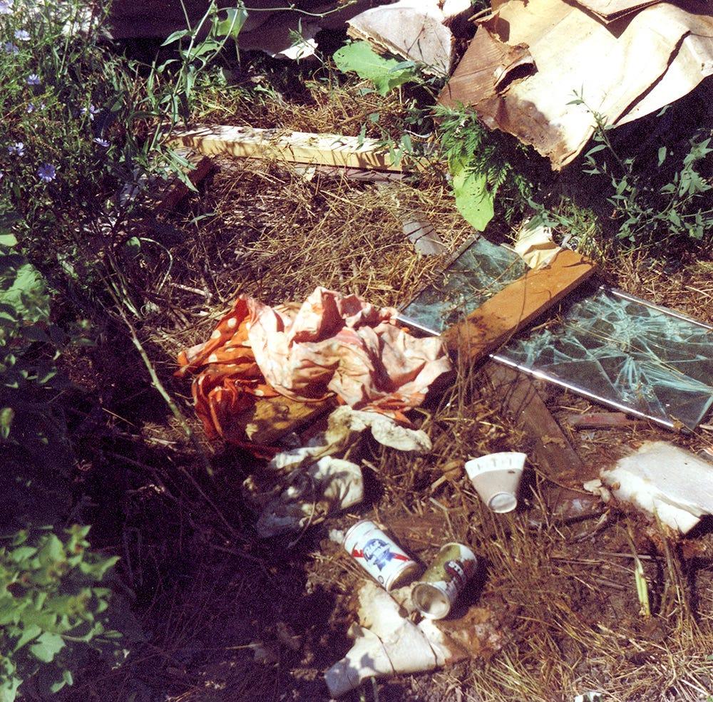 Crime scene photos from the Fleszar case.