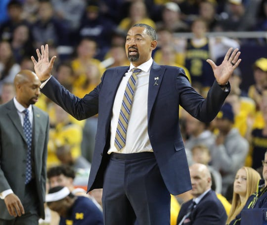 Michigan Wolverines coach Juwan Howard during action against the Appalachian State Mountaineers, Tuesday, November 5, 2019 at Crisler Center.