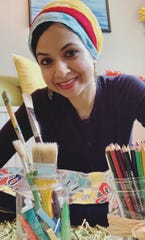 Let's Art About It owner Shazia Siddiqi said her storefront will always have an inspirational message for passersby.