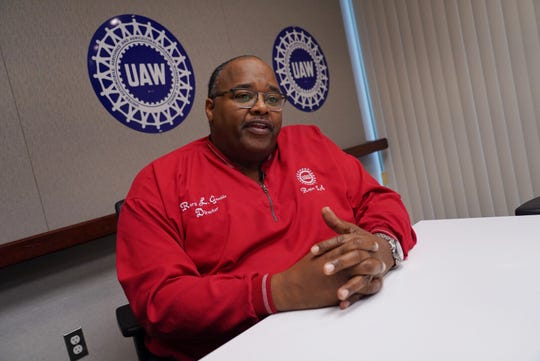 UAW International acting president Rory Gamble speaks to the Detroit Free Press from his office in Southfield on Wednesday, November 6, 2019.