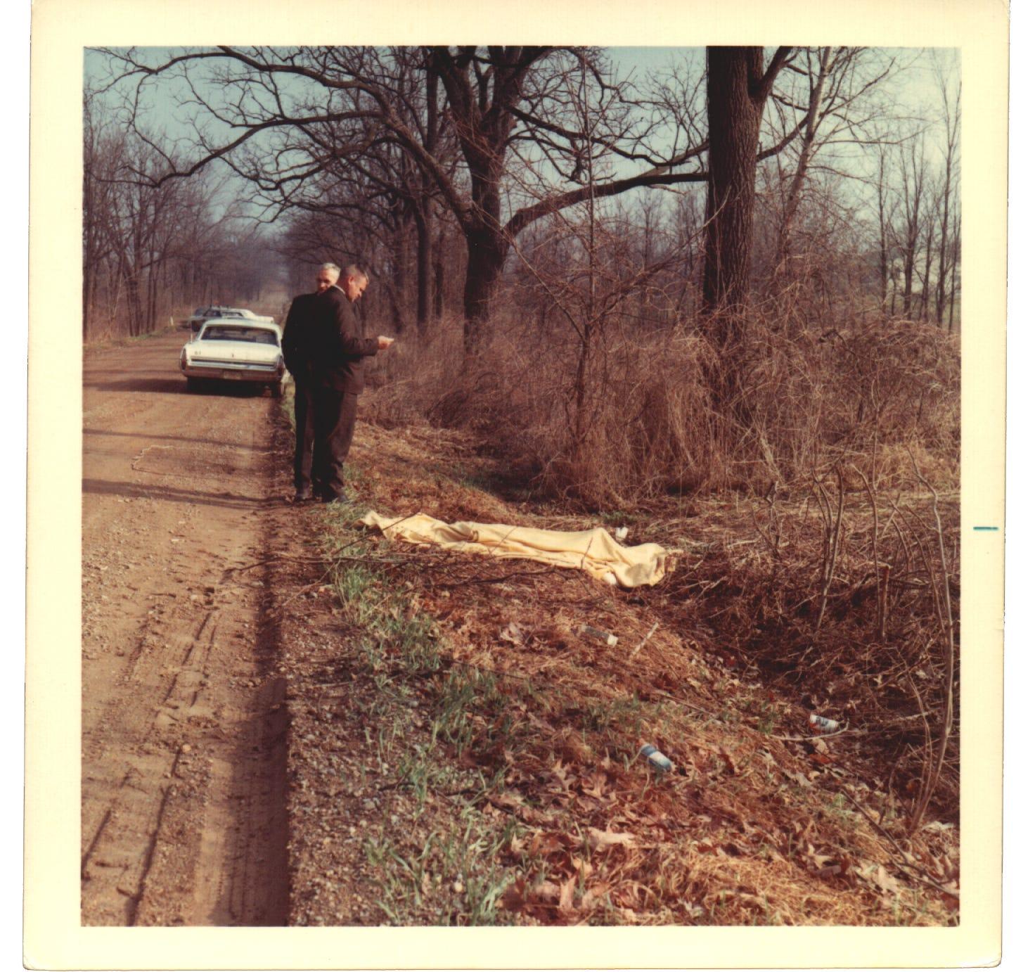 Crime scene photos from the Basom case.