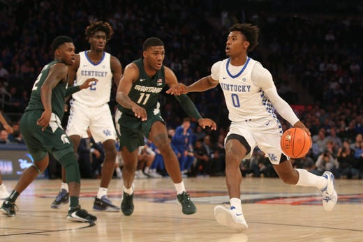 Ashton Hagans is a first round prospect for the 2020 draft.  (Photo: Brad Penner/USA Today Sports via Freep.)