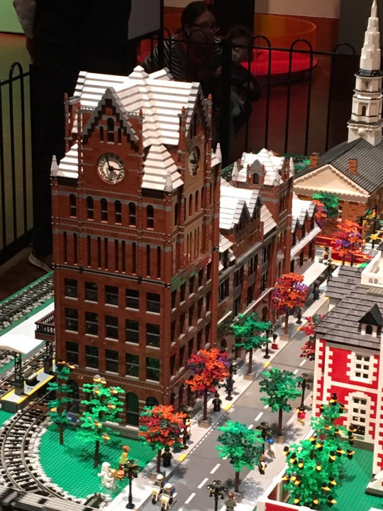 The Fort Street Union Depot, which used to stand where the Detroit campus of Wayne County Community College is today, looks great in LEGO blocks.