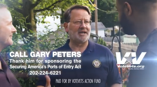 A liberal group called VoteVets Action Fund announced Wednesday, Nov. 6, 2019, it would be running $750,000 in ads promoting U.S. Sen. Gary Peters.