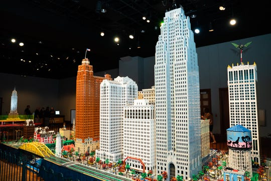 The recreation of downtown Detroit was built by the members of MichLUG, a users' group of LEGO enthusiasts.