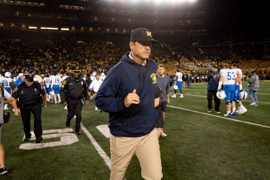"Jim Harbaugh's proclamation about ""Michigan's finest hour"" received a belated thumbs-up from ESPN commentator Kirk Herbstreit."